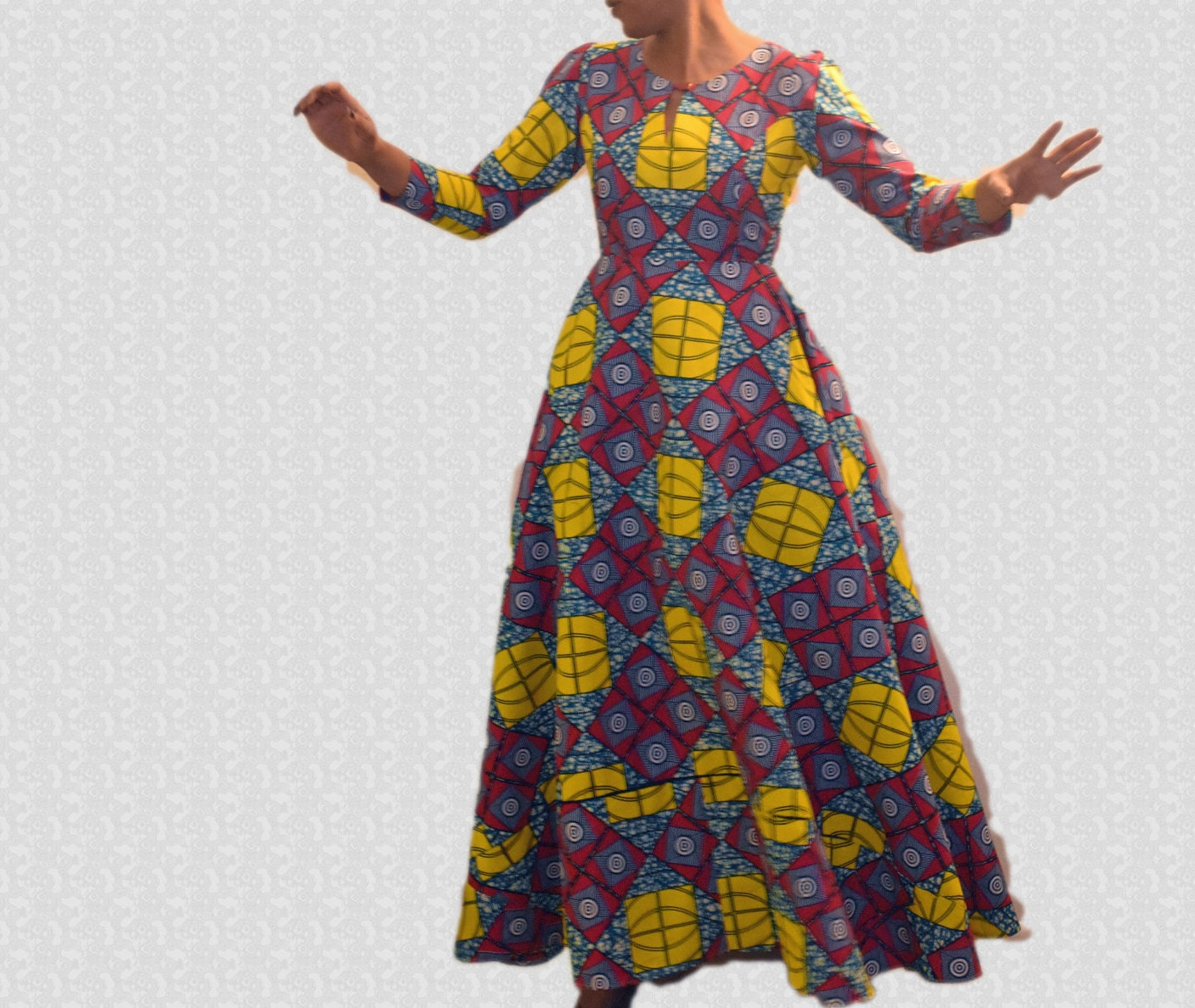 Simple Wedding Gowns In Kenya: African Print Long Dress Ankara Maxi Dress Evening Dress