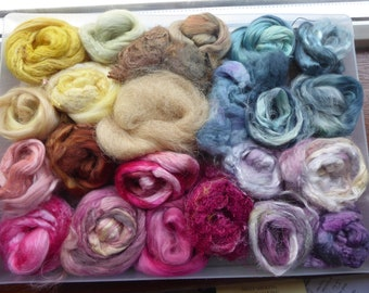 Hope Jacare - Hand dyed speciality fibre pack -  approx 130g mixed plant/speciality fibres - PLF60