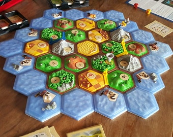 Deluxe 3d printed Settlers of Catan Kits