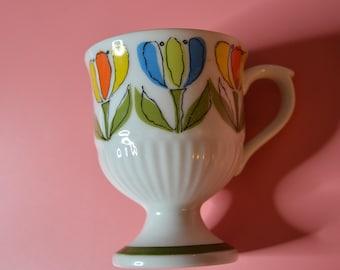 "Vintage Mug with Tulips called ""Springtime"""