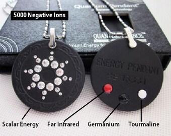 QP7 Dalimara Pendant Swarovs Crystal 5000 Ionic Scalar Energy Birthstone Crystal AB April