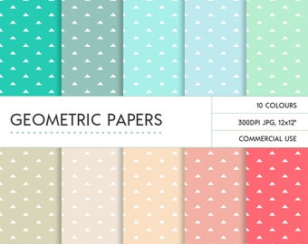 Pastel Triangle Pattern, Instant Download & Commercial Use