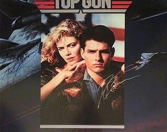 Top Gun signed movie poster