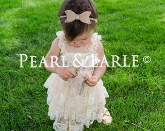 champagne lace dress, Rustic flower girl dress, flower girl dresses, Flower girl dress,baby dress, girl dress, flower girl, girl dresses