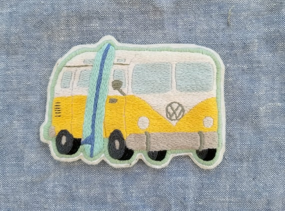 Hand Embroidered Surf Bus Patch