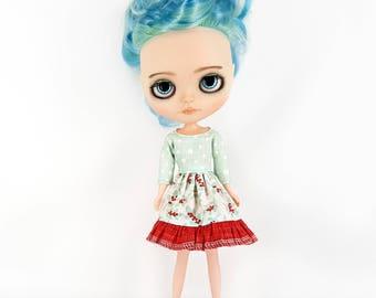Blythe Blue Dress - Clothes for Blythe - Blythe Outfit - Neo Blythe Clothing - Takara Blythe Fashion - Blythe Doll Clothes - Blythe Custom