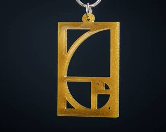 Fibonacci Golden Ratio Pendant