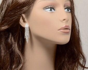 Bridal Rhinestone earrings, Wedding jewelry, Rhinestone earrings, Rhinestone Dangles, Special Occasion Earrings