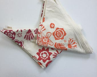 Organic cotton flower field baby blanket