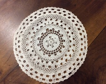 Handmade lace doily for dream catcher