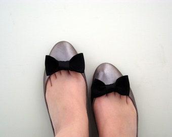 Shoe Clips - Black Tie Affair Bows -  Black Tie/ Wedding / Gift / Bridesmaid / Handmade FREE SHIPPING