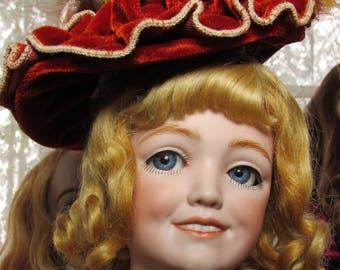Antique reproduction doll Amazing Simon Halbig 1388 flirty eyes artist doll