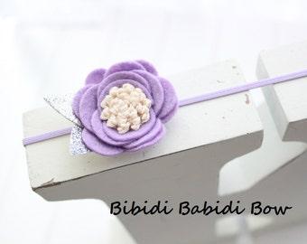 Felt flower headband- Lavender- Easter headband- Baby girl headband-Gift-Girl headband -Hair accessory -Toddler headband- Babyshower