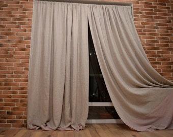 Linen Curtain - Custom color