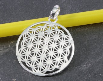 Flower Circle, silver, pendant-4803