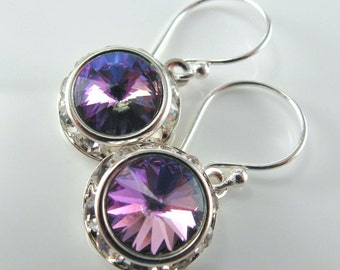 Captivated Sparkle Earrings - Rhinestones, Rivoli Swarovski Crystals, Sterling Silver