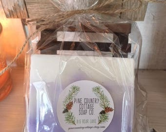 Soap Gift Set with wooden soap dish