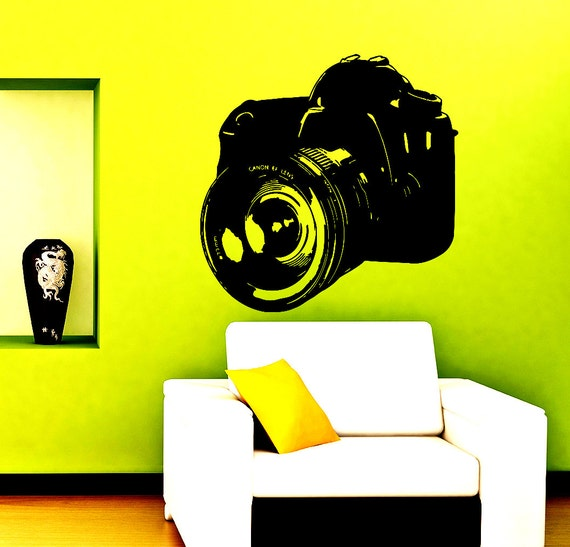 wall decals photo camera decal vinyl sticker home decor photo