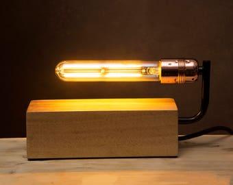Ampoule lampe inc Edison Filament décoratif de style vintage bloc de bois