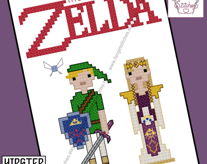 The Legend of Zelda themed Cross Stitch - PDF Pattern - INSTANT DOWNLOAD