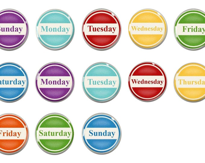 Perpetual Calendar Magnets - Days Of The Week - Learning Calendar Magnets - Chalkboard Magnets - Teacher Gift - Educational - Early learning
