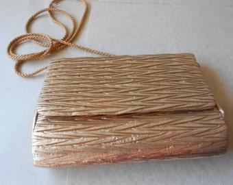 Gold Evening Bag Gold Clutch Purse Formal Elegant