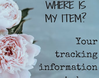 Purchased Tracking Number • Tracking Information of Traveled Item