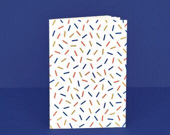 """Carnet de notes, journal, notebook, idée cadeau, papergoods, carnet graphique fait main en papier recyclé, carnet """"Surprise"""" 11,5 x 17 cm"""
