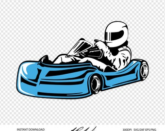 GoKart Digital Cut Files - Digital Files - GoKart SVG - Go Kart DXF - Go Kart EPS - GoKart png - Racing svg - Racing dxf - GoKart Clip Art