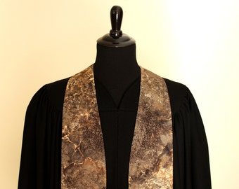 """Clergy Stole, Solid Rock #144, Pastor Stole, Minister Stole, 54"""" Length, Pastor Gift, Vestments"""