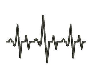 29 Sizes Heart Beat HeartBeat Nurse Embroidery Fill Mini Design Machine Instant Download Digital File EN2161F3