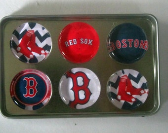 Boston Red Sox Fridge Magnets - Boston Red Sox Baseball Refrigerator Magnets Set of 6