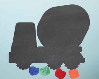Chalkboard Cement Mixer Wall Decals - Chalkboard Wall Decals