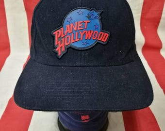 vintage 90' PLANET HOLLYWOOD maui strapback,dad hat,baseball cap style made in taiwan roc