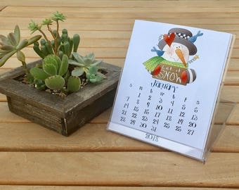 2018 Country Desk Calendar, 12 Months, with CD Case