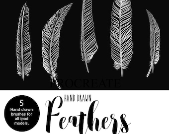 Procreate Brushes iPad Feathers Brush Set