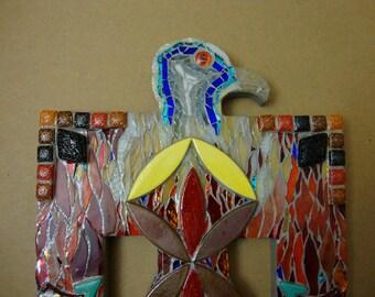 Mosaic Thunderbird Original Wall Art Native American Inspired