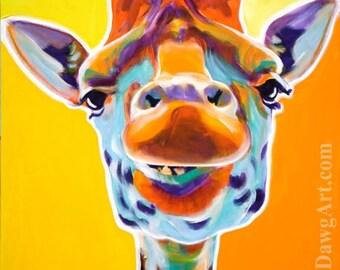 Giraffe, DawgArt, Zoo Art, Zoo Animal, Giraffe Art, Pet Portrait, Pet Portrait Artist, Art Prints, African Wildlife Art