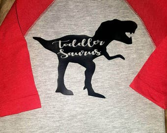 Toddler Saurus Raglan