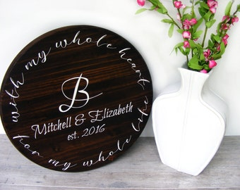 """Personalized Wedding Gift - 18"""" - Anniversary Gift - Unique Wedding Gift - Wedding Shower Gift - Gift For Bride - Engagement Gift"""