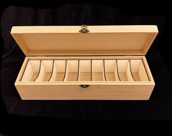 Magic the Gathering Deck Box with Hinges & Latch-15 1/2 x 4 3/4 x4 with laser cut dividers
