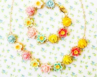 Flower Girl Jewelry set, Flower girl set, Flower girl gift, Jewelry set for flower girl
