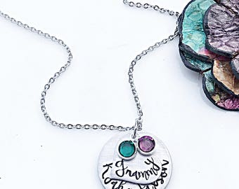 Grammy Gifts, Grammy Necklace, Personalized Grandmother Necklace, Grandchildren Necklace, Grandma Necklace, Grandma Gift from Grandkids