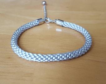 Braided friendship bracelet, kumihimo bracelet,  silver jewellery, silver friendship bracelet, woven bracelet, stacking bracelet, festival