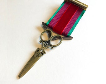 Steampunk Medal - Victory Scissors