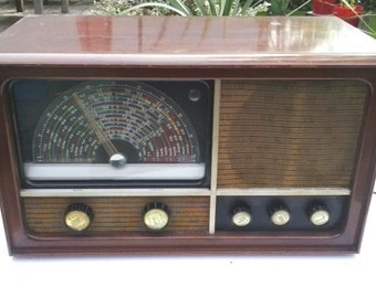 Vintage Radio Antique ReceiverCunningham Général Électric CX371 fully functionnal 1946 very rare and hard to find