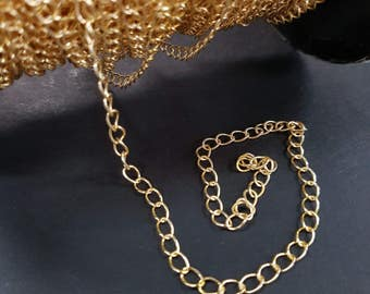 3.5mm TARNISH RESISTANT Gold Large Link Chain #160SB