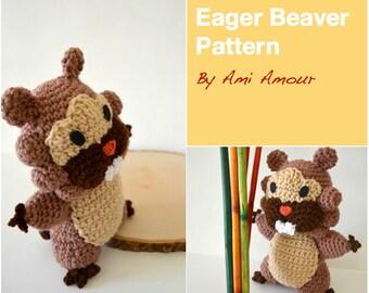 Eager Beaver Crochet Pattern Amigurumi Doll PDF