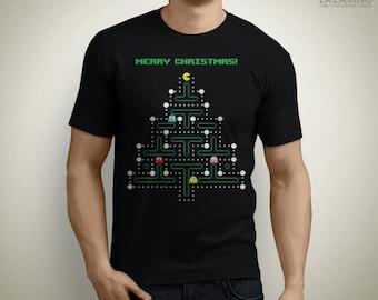 Christmas Pac-Man - Christmas T-Shirt / Ugly Sweater