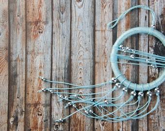Blue Silver Dream Catcher Small Dreamcatcher car dream catcher boho dreamcatchers wall hanging wall decor